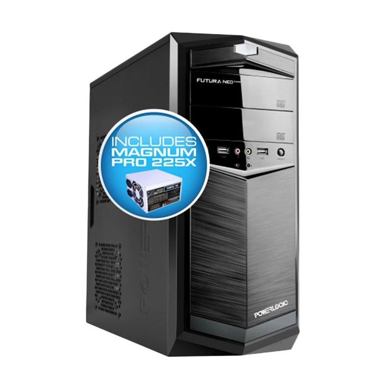 Powerlogic Futura NEO 100 Casing Komputer - Black