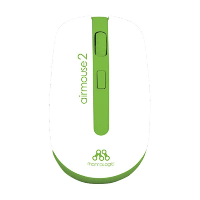 Powerlogic Morro Air 2 White Green Wireless Mouse