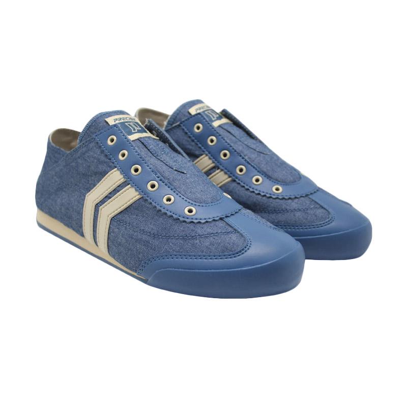 Precise Fame - Biru Jeans dan Krem Sepatu Wanita