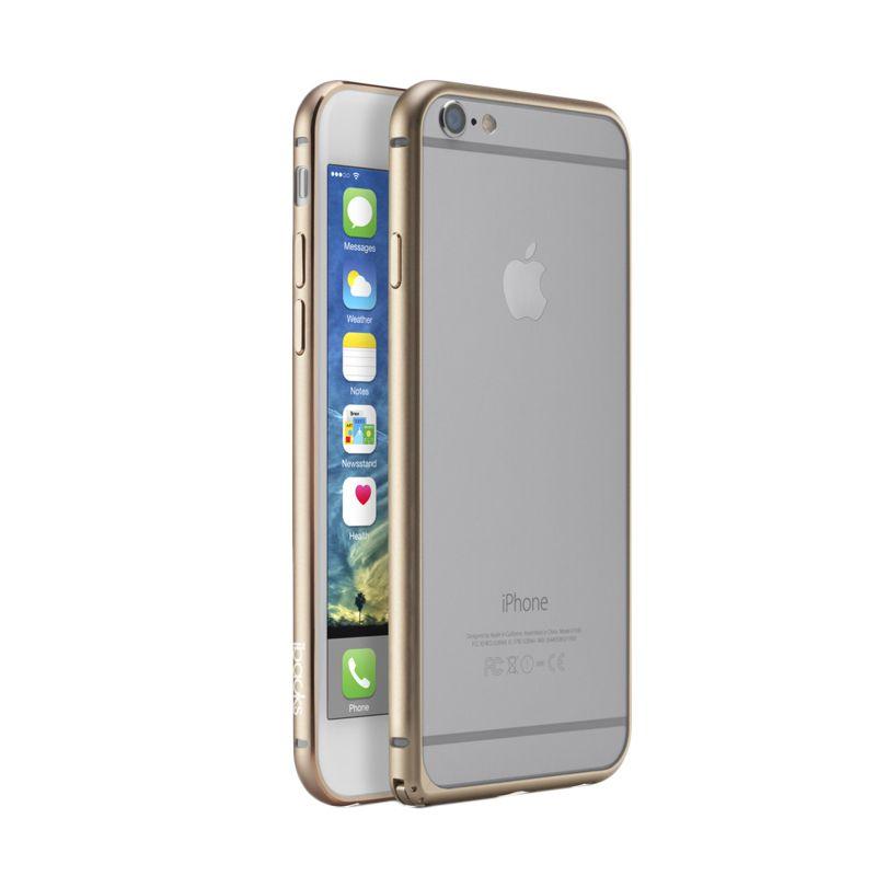iBacks Premium Aluminium Essence Champagne Gold Bumper Casing for iPhone 6