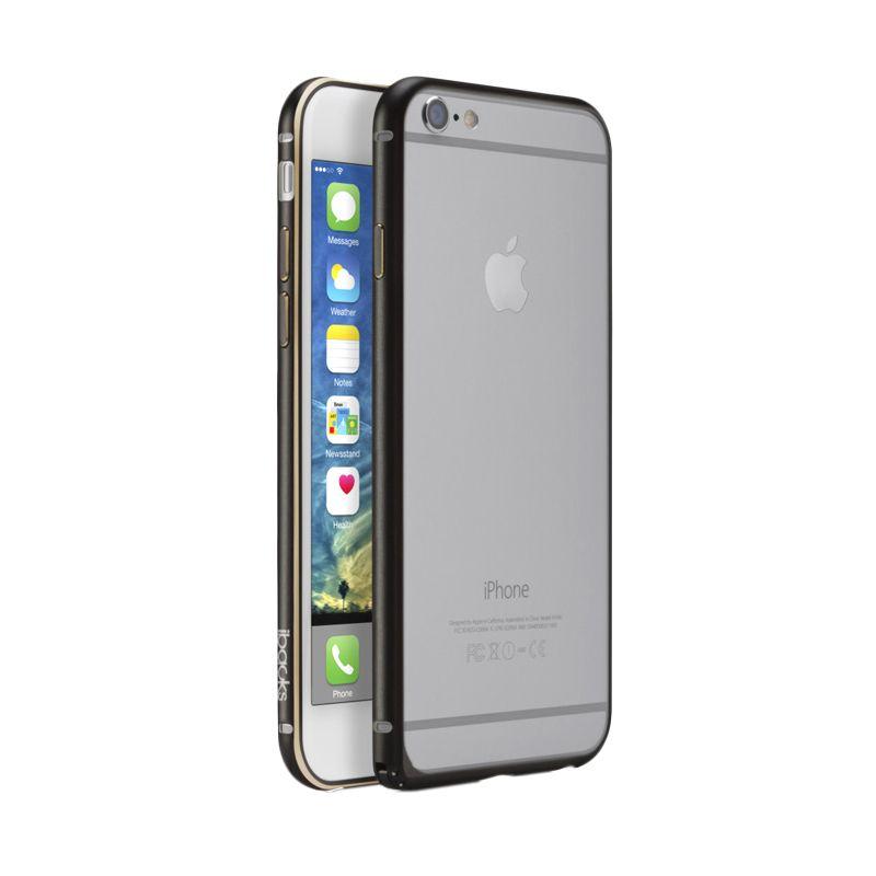 iBacks Premium Aluminium Essence Hitam Bumper Casing for iPhone 6