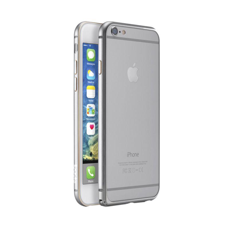 iBacks Premium Aluminium Essence Silver Bumper Casing for iPhone 6