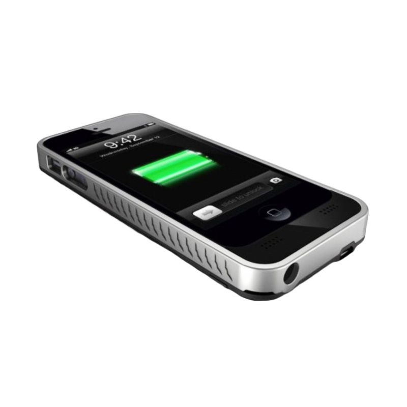 iBattz Mojo Refuel Removable Matte Black Battery Casing for iPhone 5 or 5S [2200 mAh]