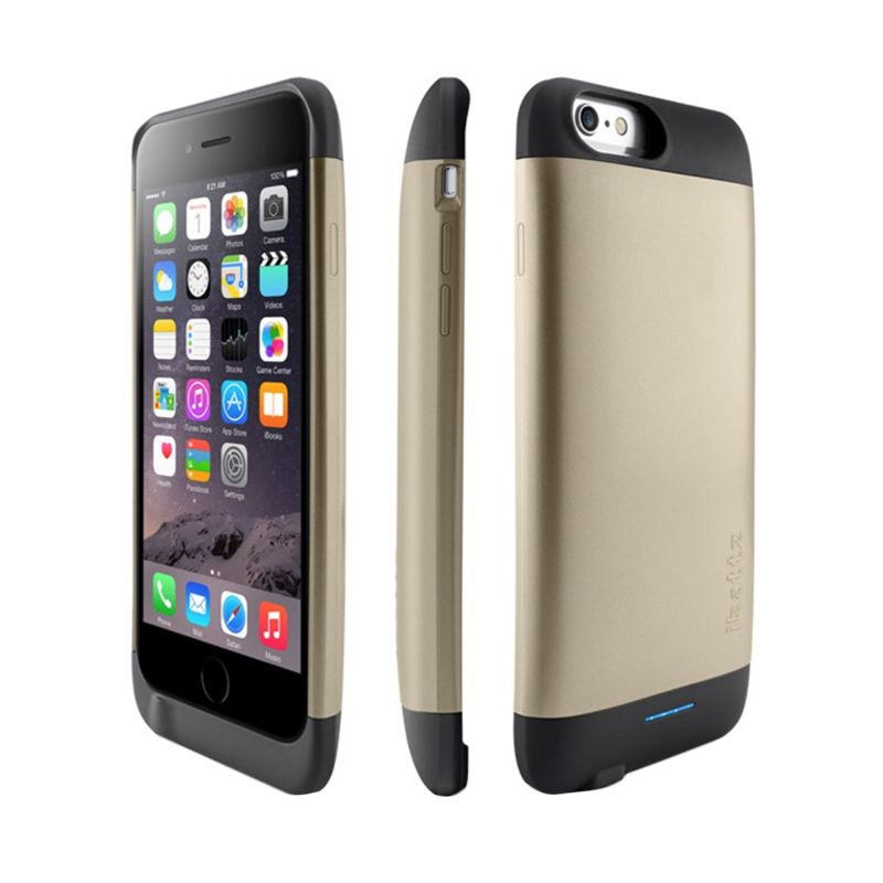 iBattz Refuel Invictus Removable Gold Battery Casing for iPhone 6 [3200 mAh]