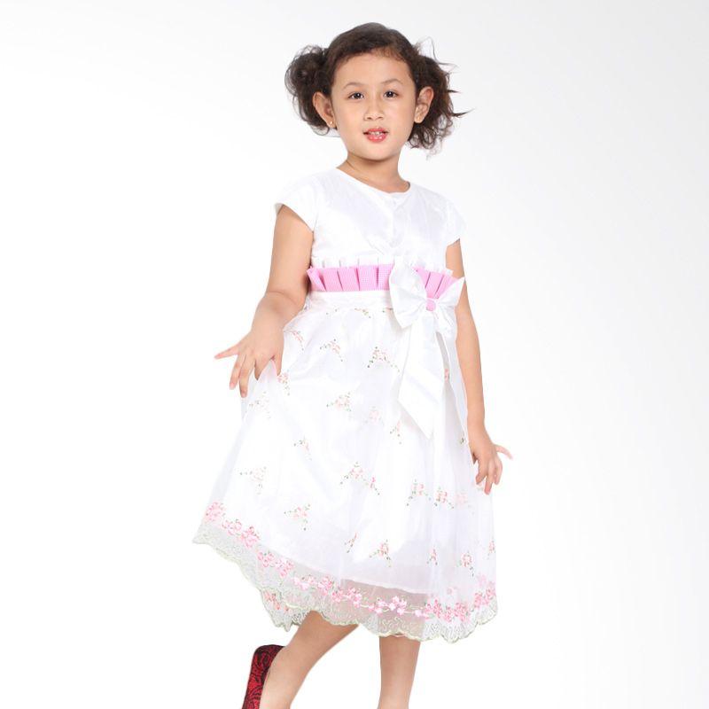 Pretty Girl ESTELLA White Dress Anak