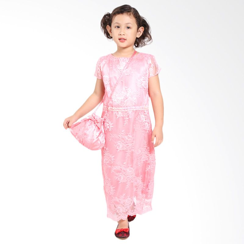 Pretty Girl JILL Peach Dress Anak