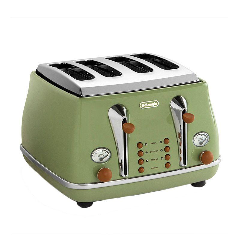 DeLonghi DL CTOV4003.GR TP Intaruskaesttr Hijau Toaster Pemanggang Roti