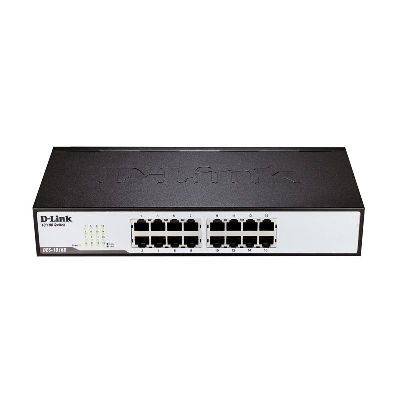 D-LINK DES-1016D 16 Port Desktop Switch [10/100]