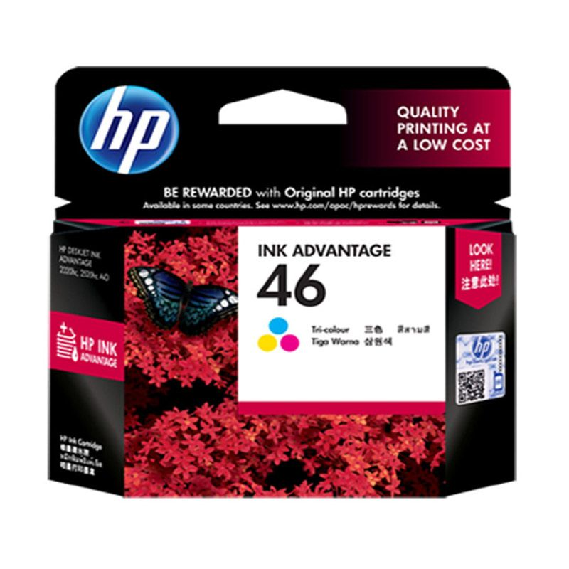 HP 46 Colour Tinta Printer