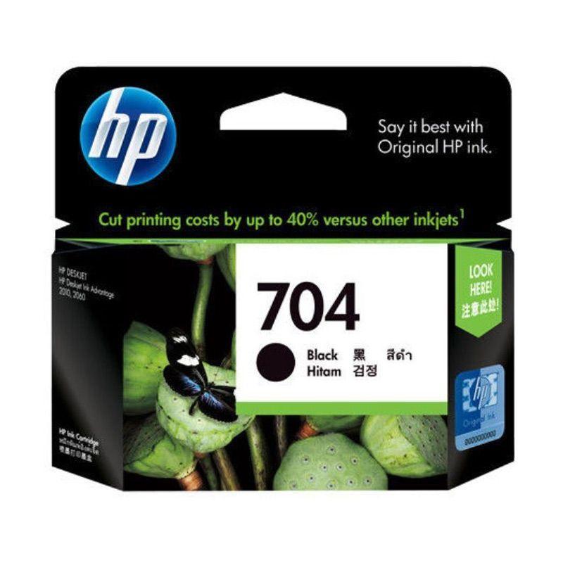 HP 704 Black Tinta Printer