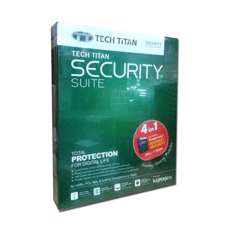 Kaspesky Tech Titan Security Suite Anti Virus Software [3 PC]
