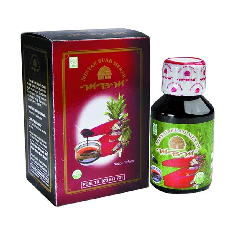 Minyak Buah Merah (MBM) - 125 ml -Obat herbal stroke, kolesterol, miom, kista, stamina perokok, flek dan kanker paru-paru