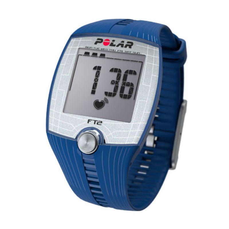 Jam Tangan Kesehatan Polar Fitness Heart Rate Monitor FT2 Blue