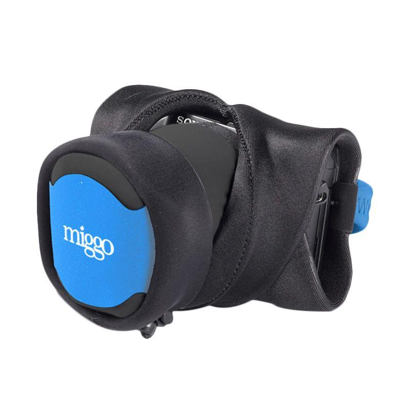 Miggo Mirrorless CSC 30 Blue Black Grip & Wrap for DSLR Camera