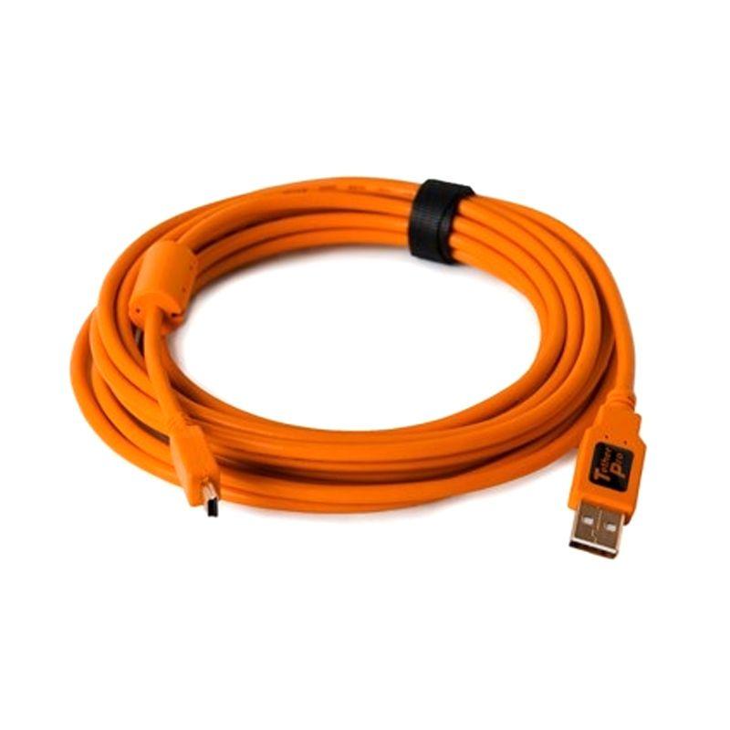 Tether Tools Mini-B 5 Pin TT-CU5451 Orange USB Data Cable [4.6m/USB 2.0]