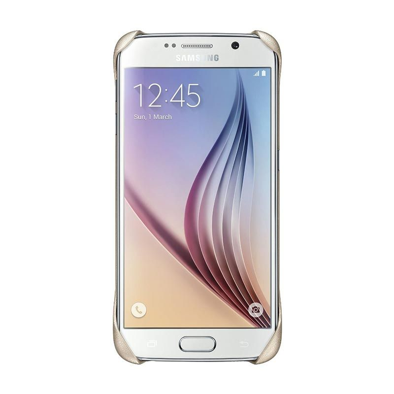 Samsung Clear Gold Casing for Galaxy S6