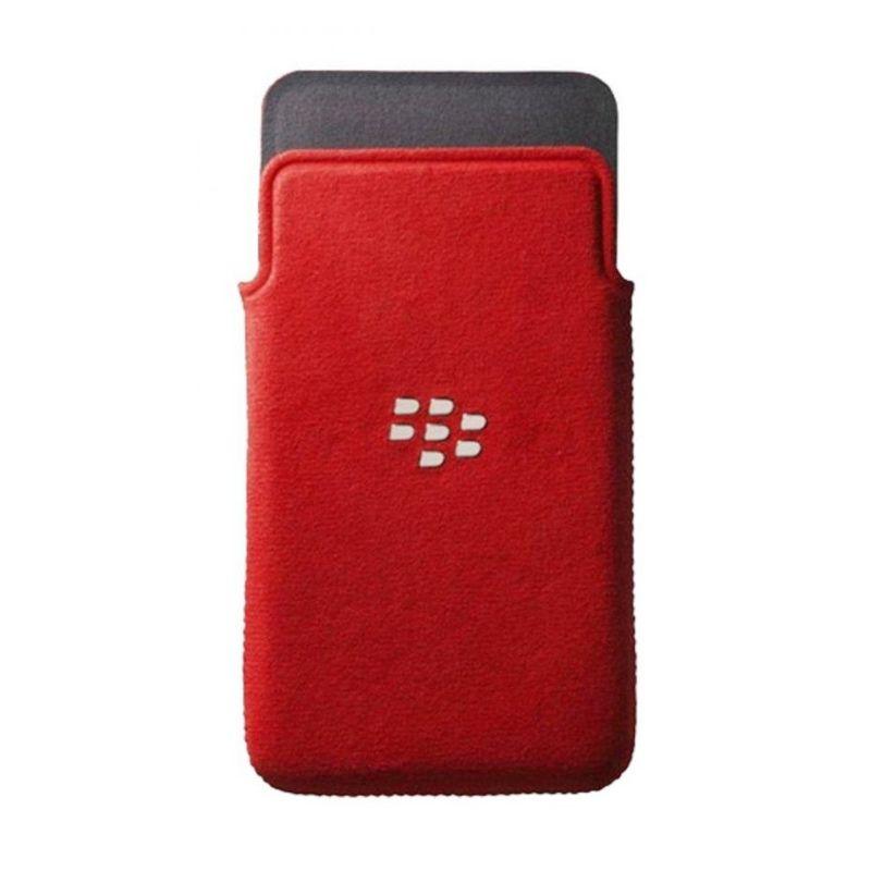Blackberry Pouch Merah Microfiber Casing for Blackberry Z10