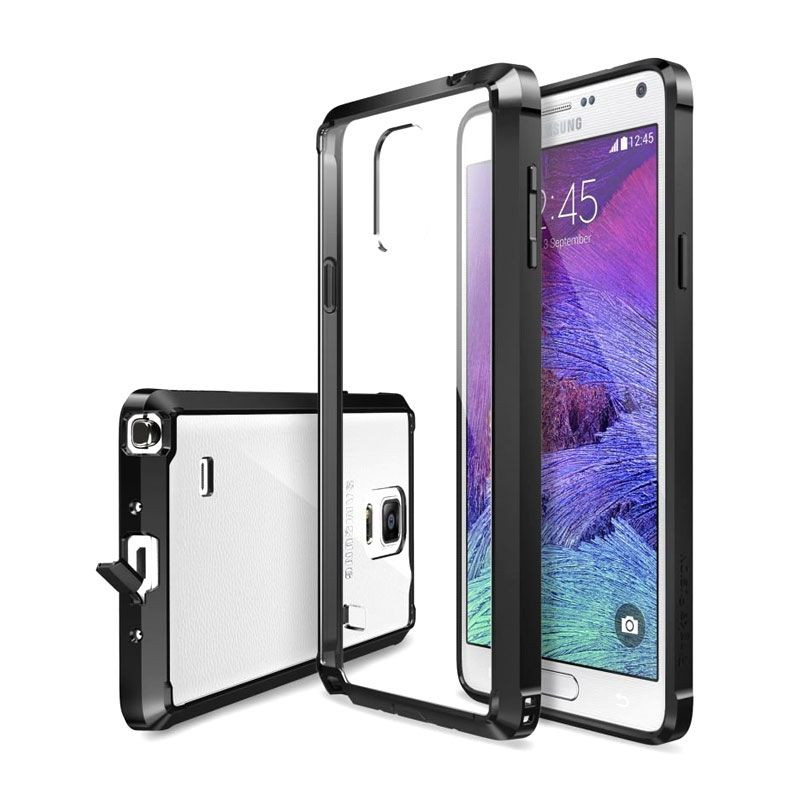 Rearth Ringke Fusion Smoke Black Casing for Galaxy Note 4
