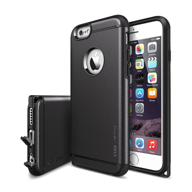 Rearth Ringke Max Hitam Casing for iPhone 6 Plus