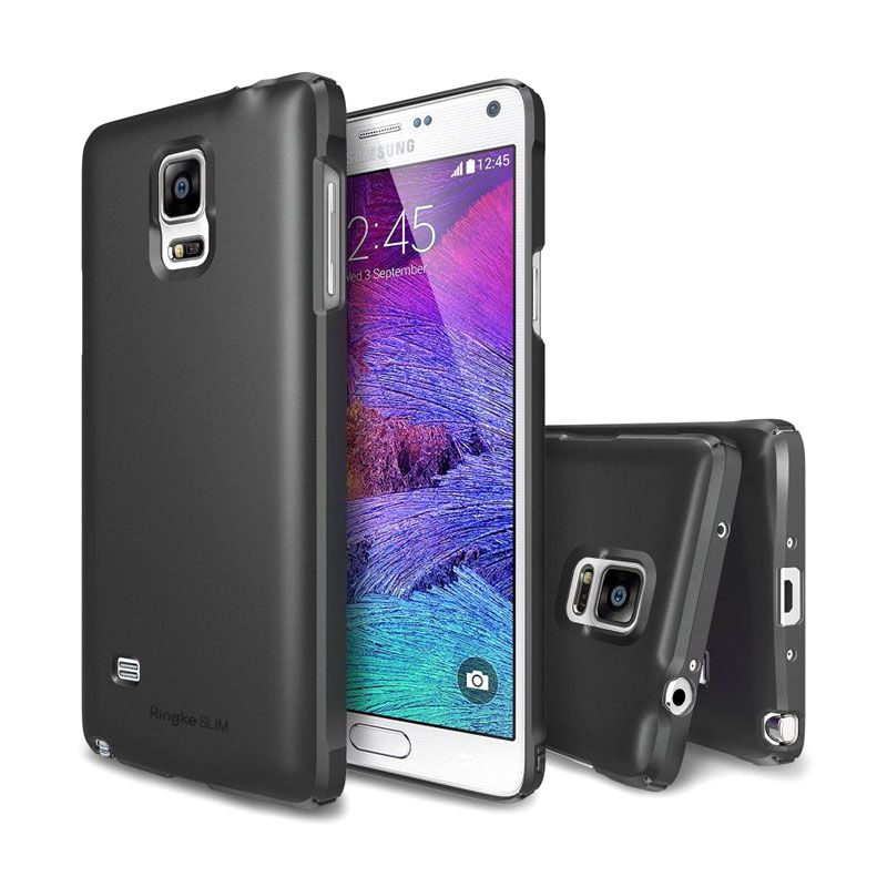 Rearth Ringke Slim Gun Metal Casing for Galaxy Note 4
