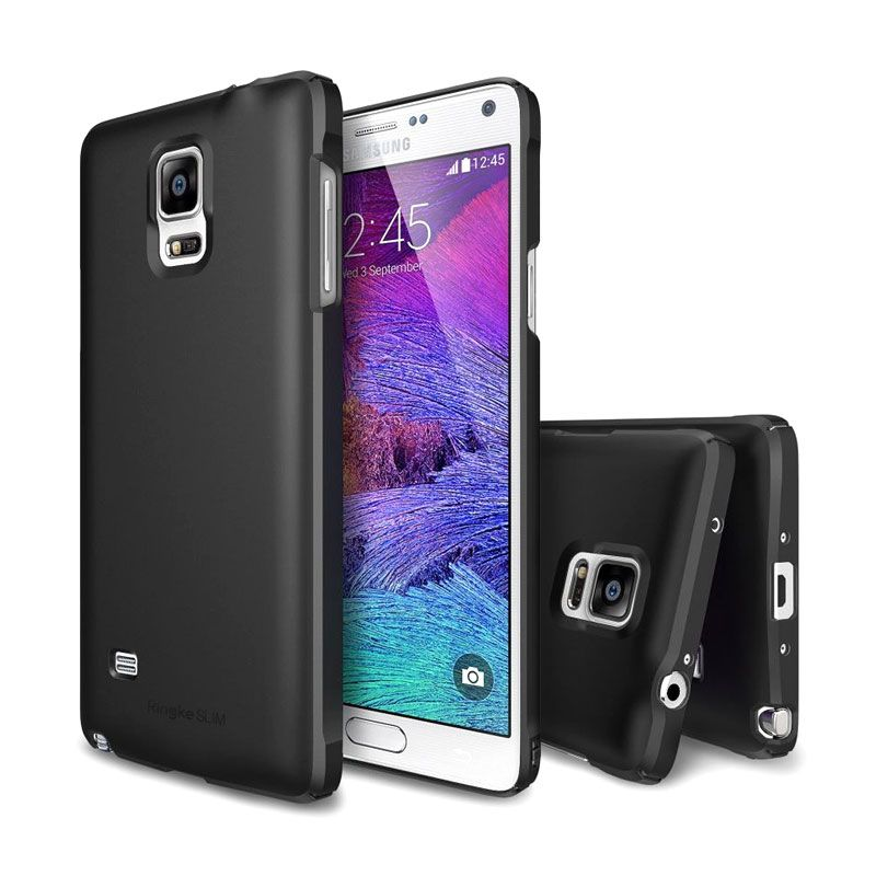 Rearth Ringke Slim Hitam Casing for Galaxy Note 4