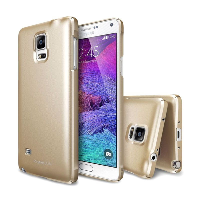 Rearth Ringke Slim Royal Gold Casing for Galaxy Note 4