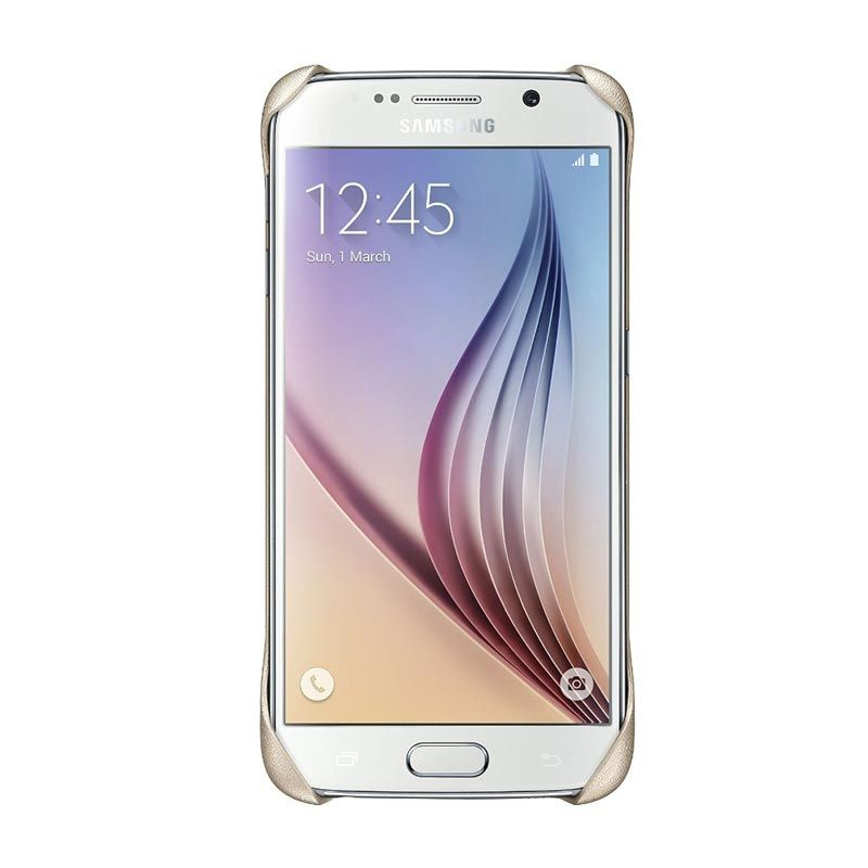 Samsung CLEAR Gold Casing For Galaxy S6 Edge