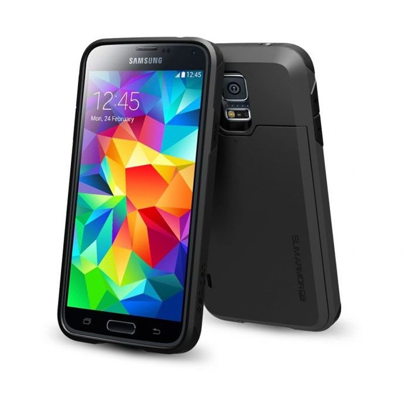 Spigen Slim Armor CS Smooth Black Casing for Samsung S5
