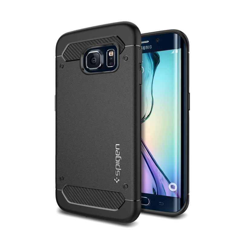 Spigen Capsule Ultra Rugged Black Casing for Galaxy S6 Edge Plus