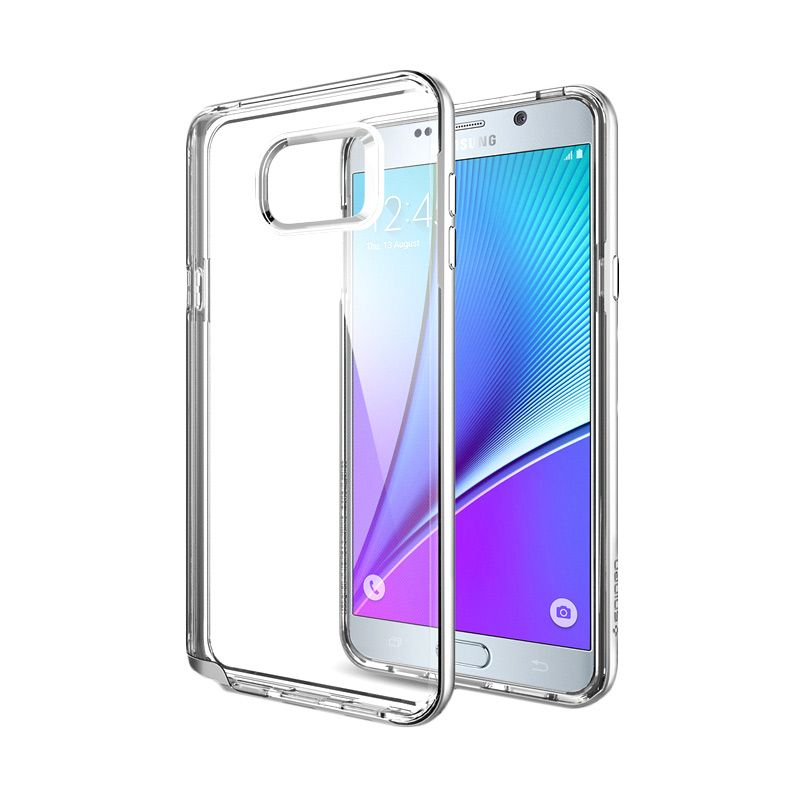 Spigen Neo Hybrid CC Satin Silver Casing for Galaxy Note 5