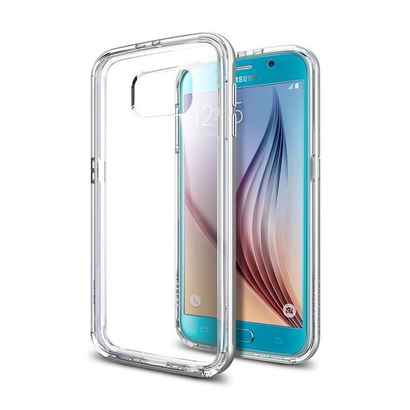 Spigen Neo Hybrid CC Silver Casing for Galaxy S6