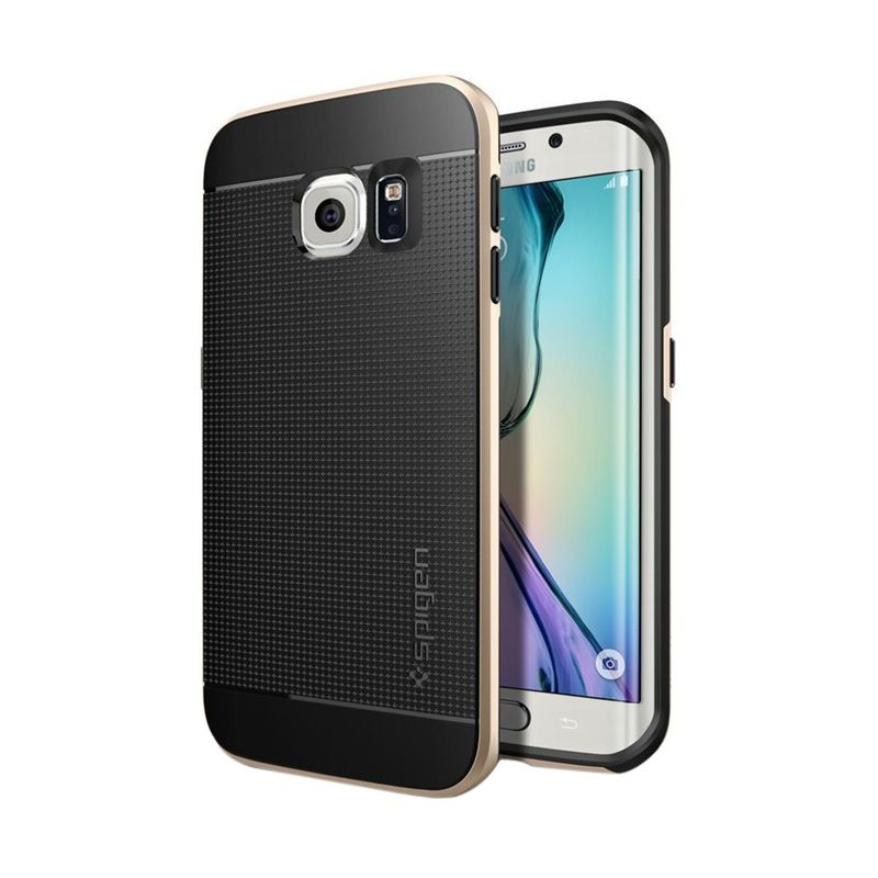 Spigen Neo Hybrid CC Satin Silver Casing for Galaxy S6 Edge