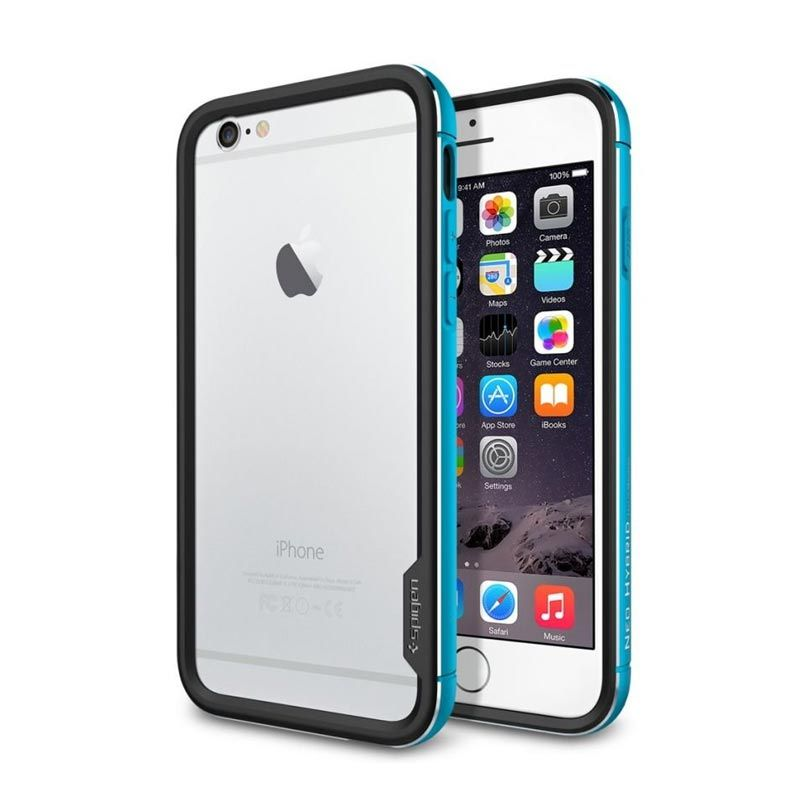 Spigen Neo Hybrid Ex Metal Blue Casing for iPhone 6 [4.7 Inch]