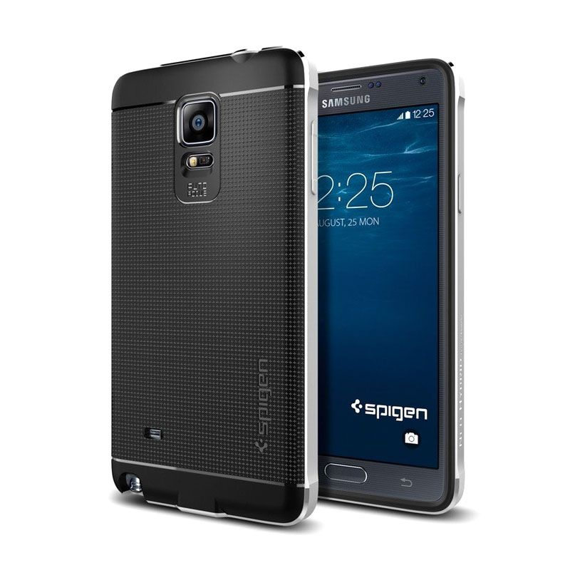 Spigen Neo Hybrid Silver Casing for Galaxy Note 4