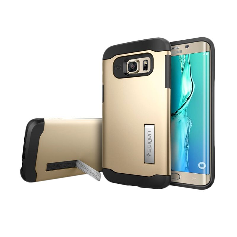 Spigen Slim Armor Champagne Gold Casing for Galaxy S6 Edge