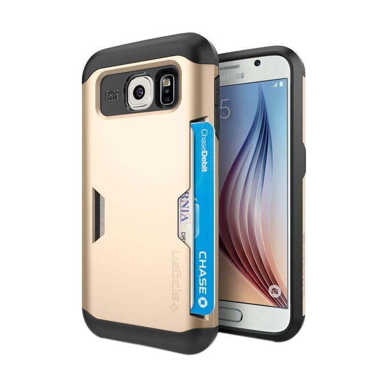 Spigen Slim Armor CS Gold Casing for Galaxy S6