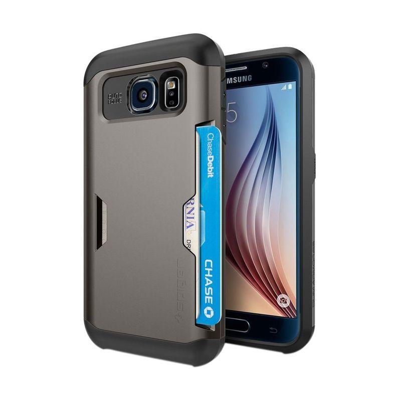 Spigen Slim Armor CS Gunmetal Casing for Galaxy S6