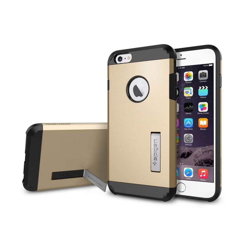 Spigen Tough Armor Series Champagne Gold Casing for iPhone 6 Plus [5.5 Inch]