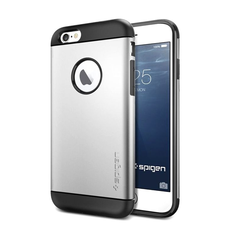 Spigen Slim Armor Series Satin Silver Casing for iPhone 6 [4.7 Inch]