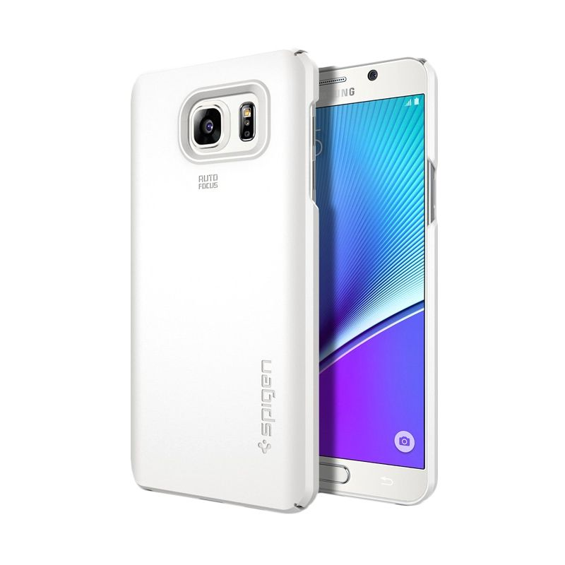 Spigen Thin Fit Shimmery White Casing for Galaxy Note 5