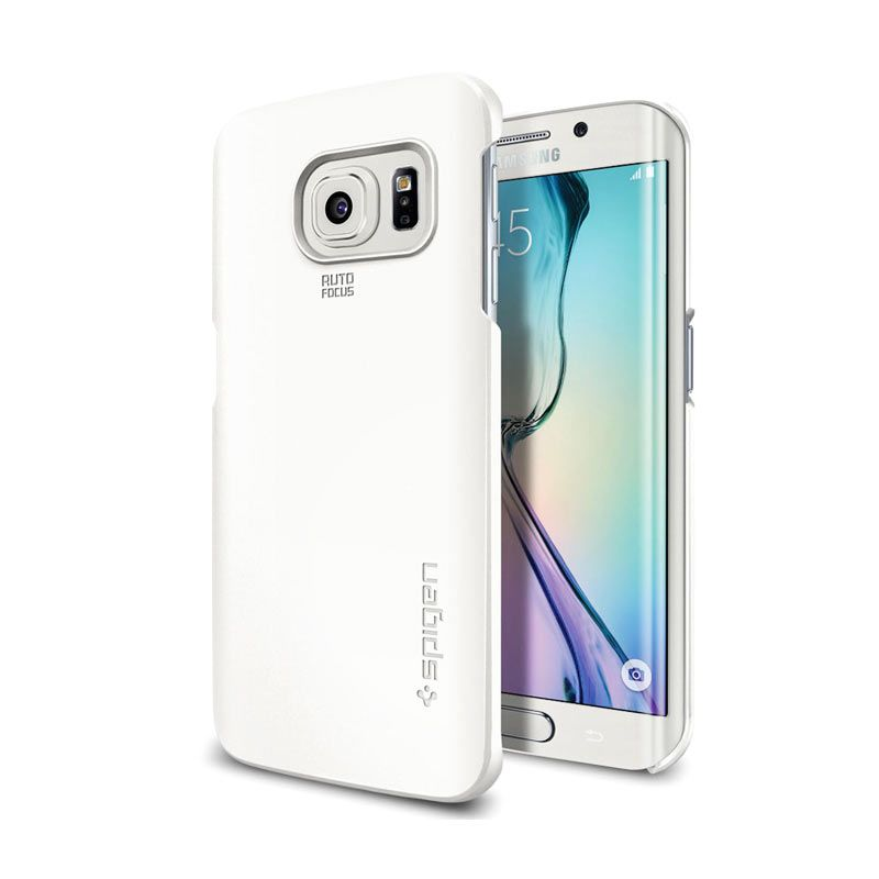 Spigen Thin Fit Shimmery White for Galaxy S6 Edge Plus
