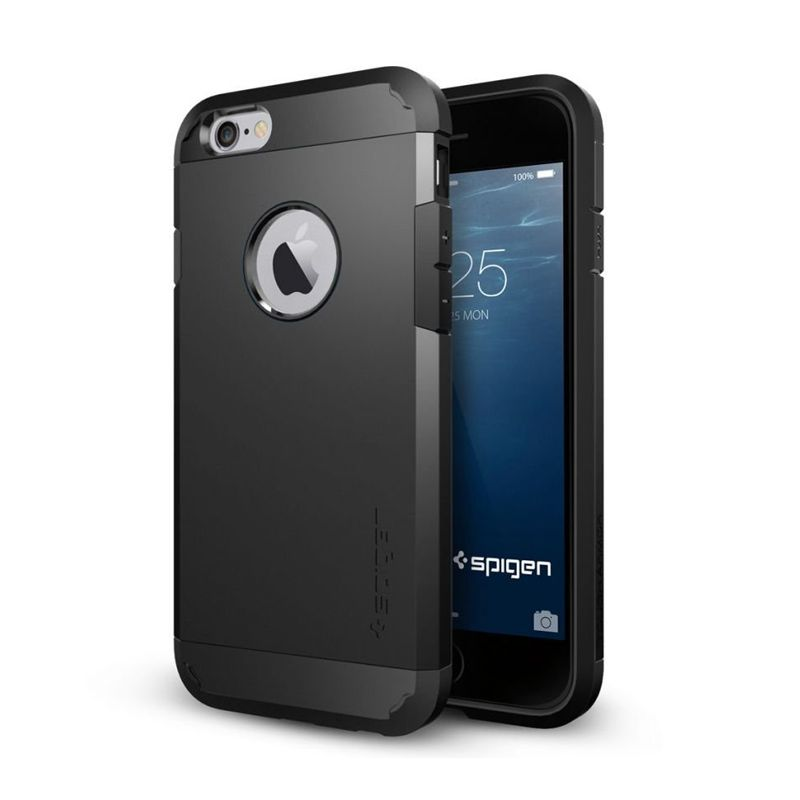 Spigen Tough Armor Series Smooth Black Casing for iPhone 6 [4.7 Inch]