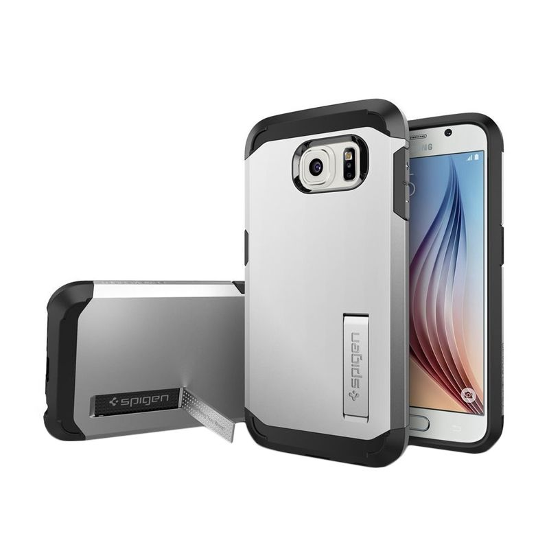 Spigen Tough Armor Silver Casing for Galaxy S6 Edge