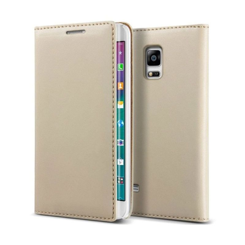 VERUS Crayon Slim Standing Diary Leather Beige Casing for Galaxy Note Edge
