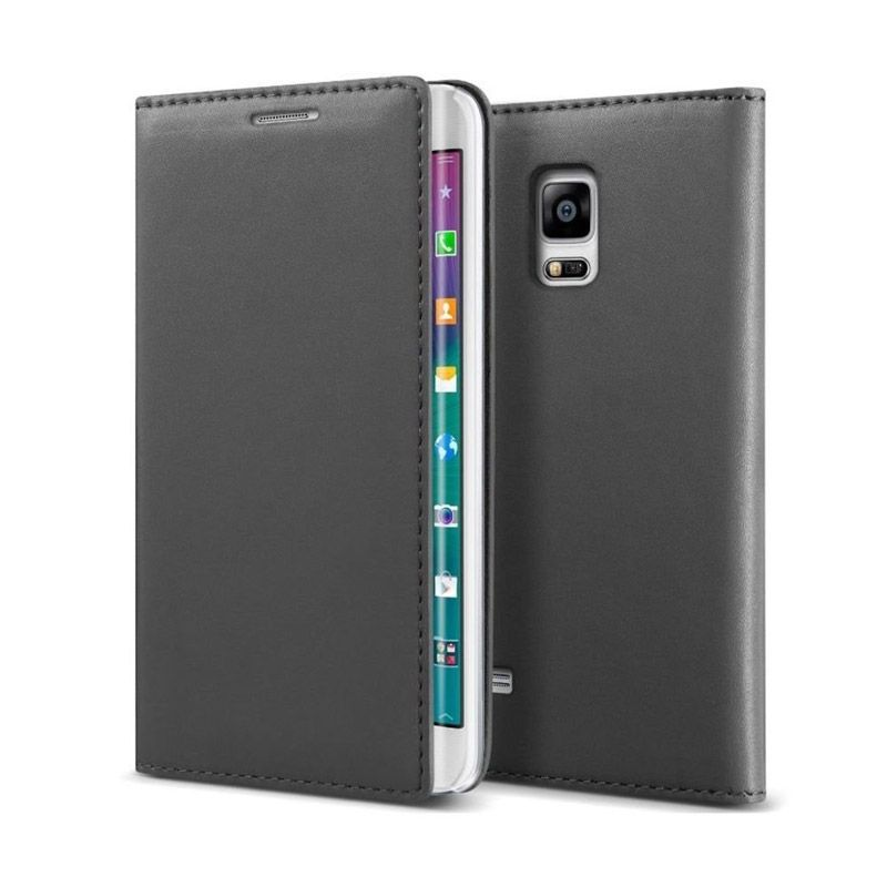 VERUS Crayon Slim Gray Leather Casing for Galaxy Note Edge