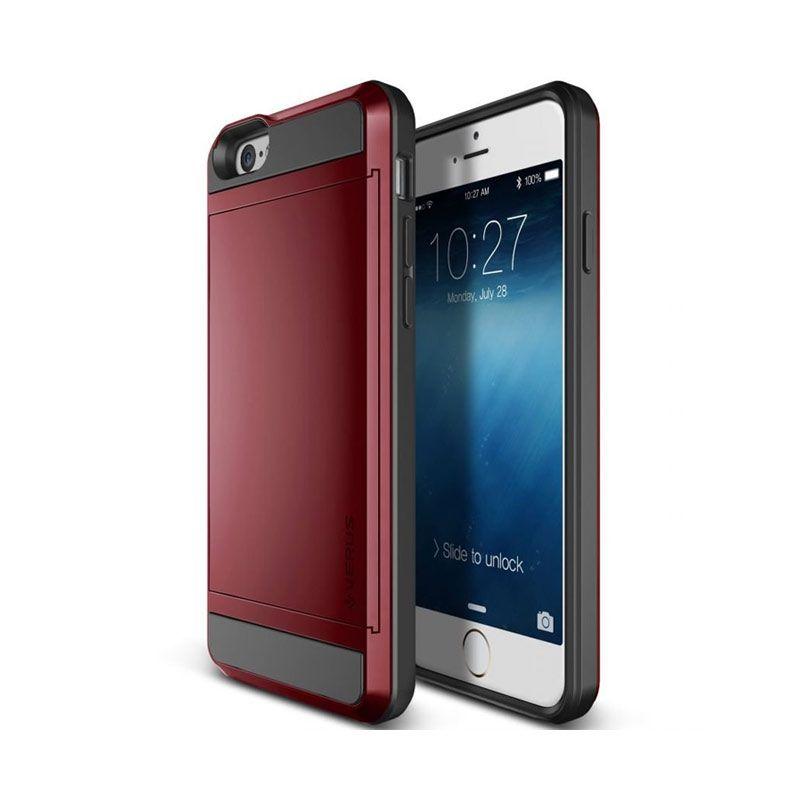 Verus Damda Slide Card Slot Poppy Red Casing for IPhone 6
