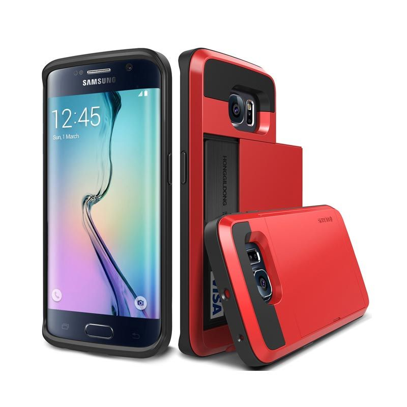 VERUS Damda Slide Crimson Red Casing for Galaxy S6