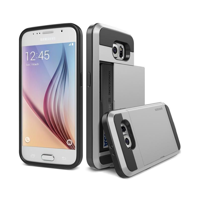 VERUS Damda Slide Light Silver Casing for Galaxy S6 Edge