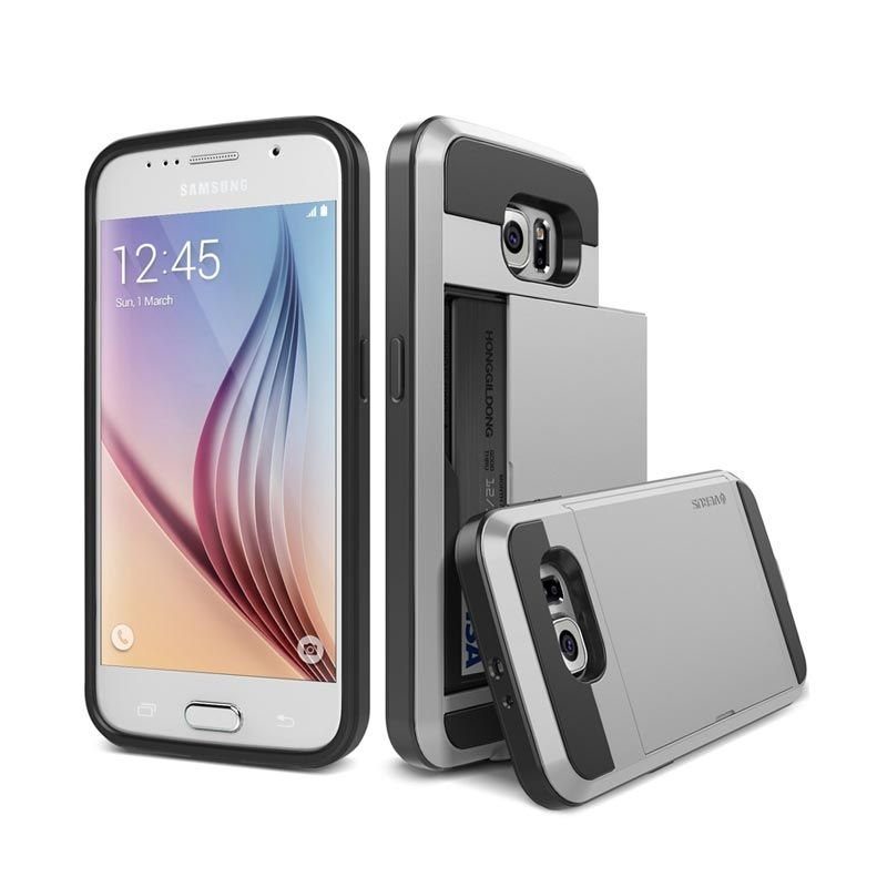 VERUS Damda Slide Light Silver Casing for Galaxy S6