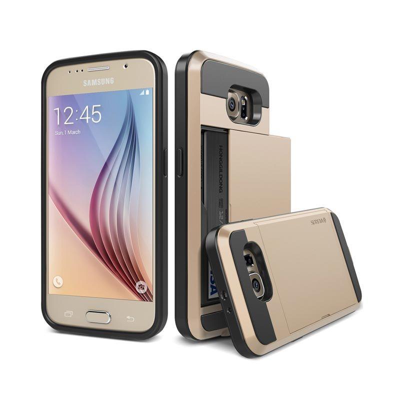 VERUS Damda Slide Shine Gold Casing for Galaxy S6 Edge